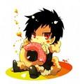 Chibi Orihara Izaya Eating a Donut - anime fan art