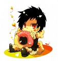 Chibi Orihara Izaya Eating a Donut - chibi fan art