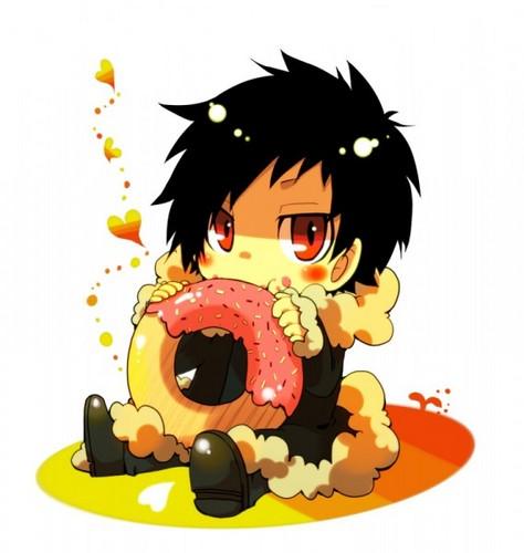 《K.O.小拳王》 Orihara Izaya Eating a Donut