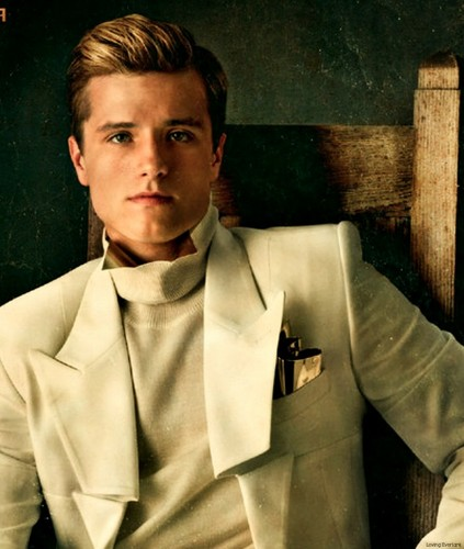 The Hunger Games Movie 바탕화면 titled Peeta-Catching 불, 화재