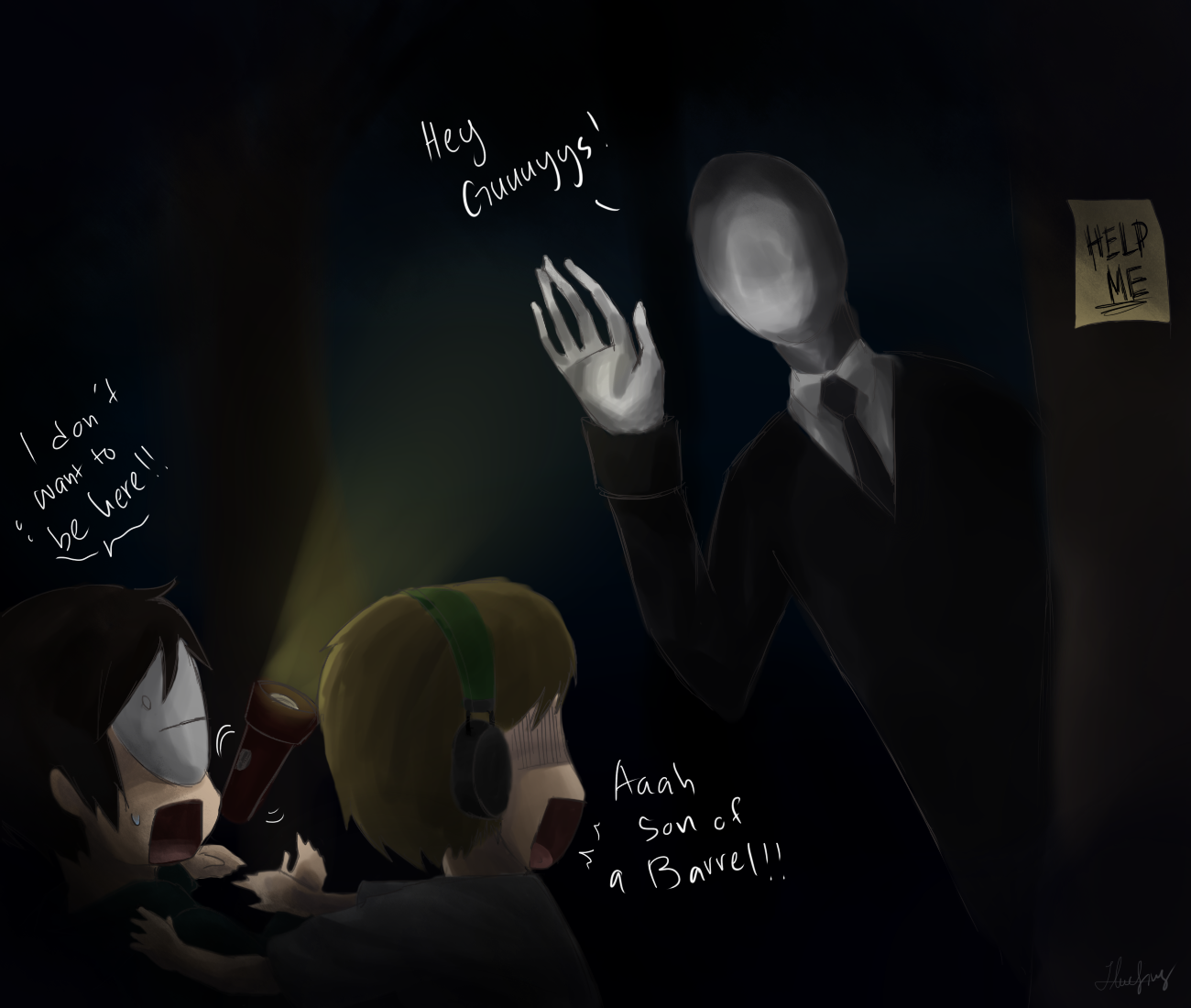 The Slender Man Pewds And Cry Play Slender