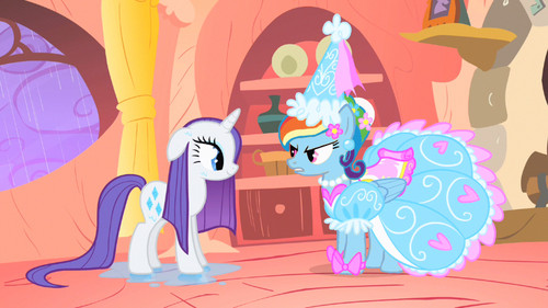 Rarity and arco iris Dash