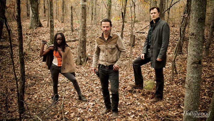 The walking dead rick grimes michonne the governor