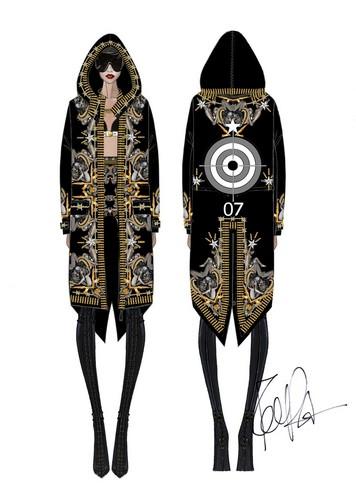 Rihanna's outfit for her Diamonds tour 의해 Riccardo Tisci