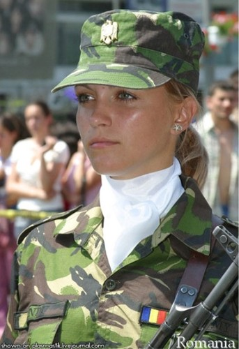 Romanians woman soldier Romania Army people