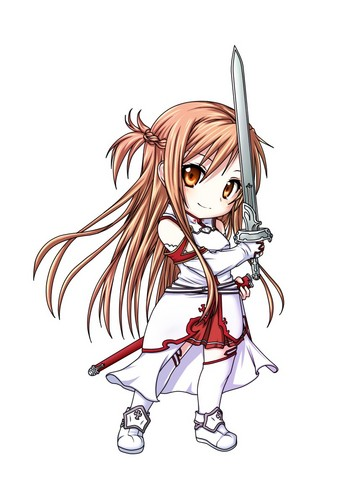 Chibi wallpaper probably with anime called SWORD ART