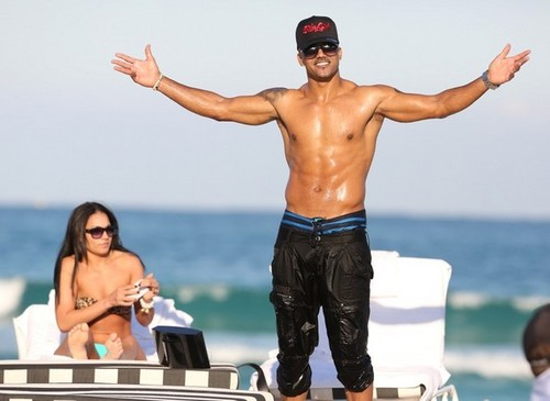 Shemar Moore Relaxes in Miami