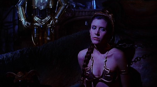 Star Wars wallpaper probably containing a street, a living room, and an opossum called Slave Leia and Jabba