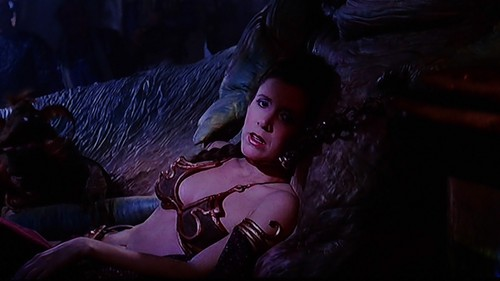 Star Wars wallpaper entitled Slave Leia and Jabba