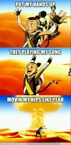 Sokka dances to Party in the USA