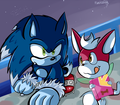 Sonic the werehog and chip - sonic-the-hedgehog photo
