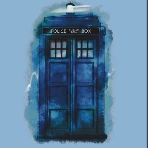 The Tardis kertas dinding possibly containing a school, a fanlight, and a row house titled TARDIS