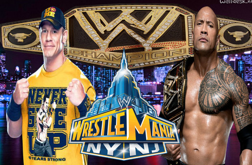 THE ROCK VS JOHN CENA WRESTLEMANIA 29 wolpeyper