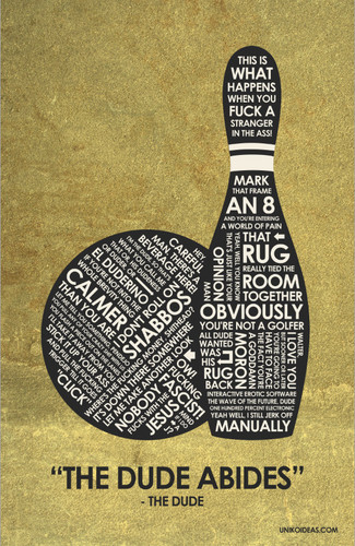 The Big Lebowski Quote Poster