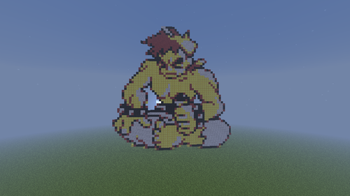 Minecraft(マインクラフト) Pixel Art! 壁紙 titled The Elite Four! (Pokemon Yellow!)