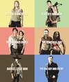 The Walking Dead characters meme → season 3
