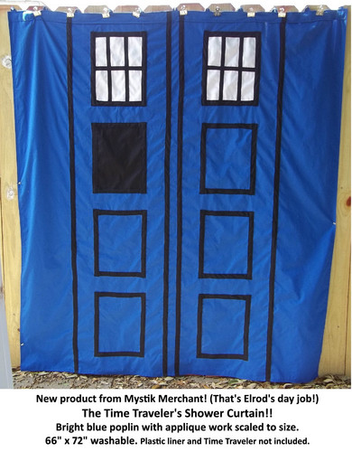 Doctor Who wallpaper entitled Time Traveler Shower Curtain & Throw