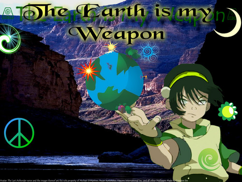 Toph Wields the Earth