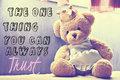 Trust - teddy-bears photo