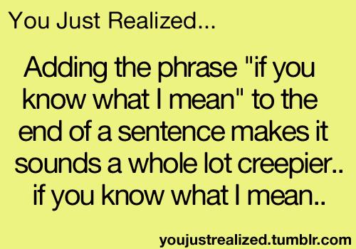 あなた just realized...