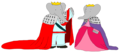 Young King Babar and Young Queen Celeste - Palace Ball - babar-the-elephant fan art