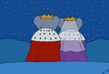 Young King Babar and Young Queen Celeste - Stargazing - babar-the-elephant fan art