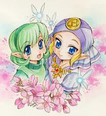 Young Zelda and Saria