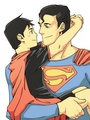 Younger Superboy and Superman 2 - young-justice photo