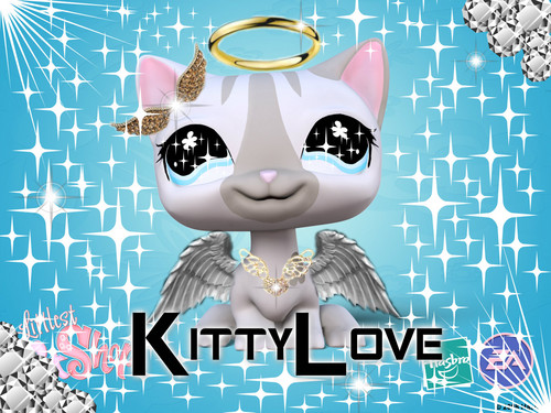 Littlest Pet comprar Club wallpaper possibly containing animê titled angel kitty