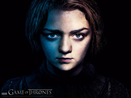 House Stark wallpaper probably with a portrait entitled arya