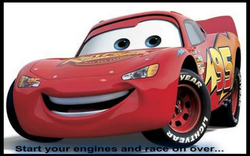 Disney Pixar Cars achtergrond probably containing a stock car, a sports car, and an auto racing called cars image