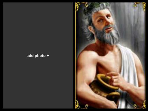Griechische Mythologie Hintergrund titled dionysus