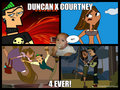 funny pic collage of courtney and duncan. - total-drama-island fan art