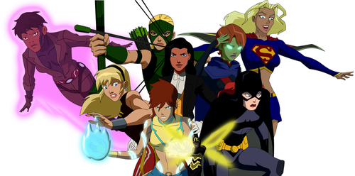 Young Justice karatasi la kupamba ukuta called girls of dc