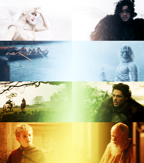 Game Of Thrones: four colors ↳ White,Blue,Green,Yellow