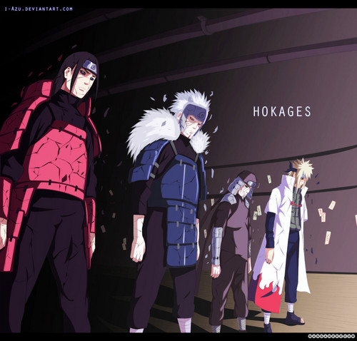 Naruto Shippuuden fond d'écran possibly containing a business suit and a concert entitled hokages