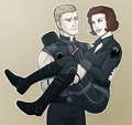 in my arms - hawkeye-and-black-widow fan art
