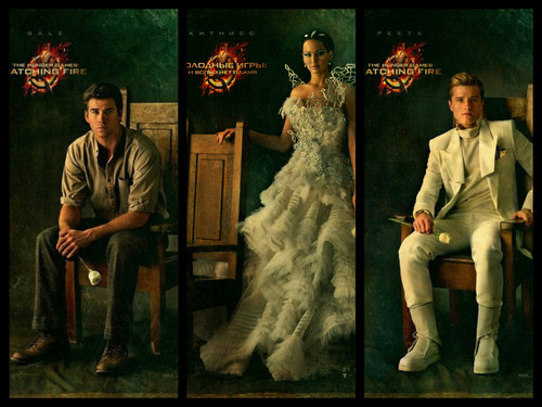 The Hunger Games wallpaper with a business suit and a bridesmaid titled main characters