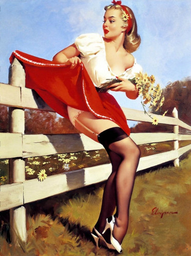 pin up girl wallpaper possibly containing bare legs, a hip boot, and tights entitled pin ups