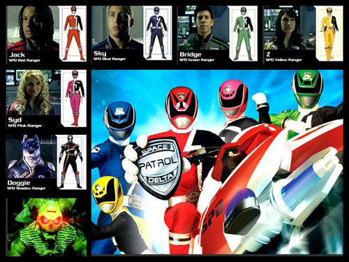 The Power Rangers wallpaper called power ranger spd team