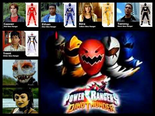 power rangers dino thunder team!