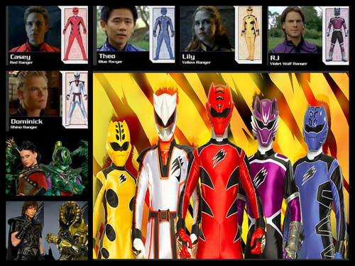 The Power Rangers karatasi la kupamba ukuta possibly with anime called power rangers jungle fury team!