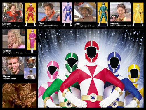 The Power Rangers wallpaper with anime entitled power rangers lightspeed resue team!