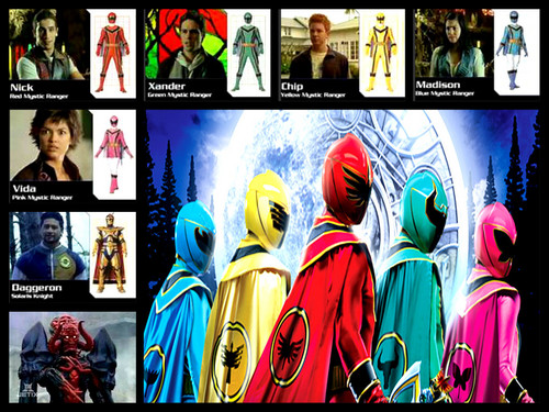 The Power Rangers wallpaper probably containing anime titled power rangers mystic force team!