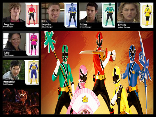 power rangers samuri team!