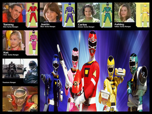 The Power Rangers wallpaper possibly with anime titled power rangers turbo team!
