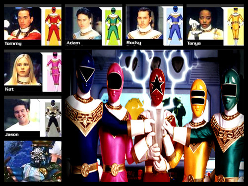 The Power Rangers karatasi la kupamba ukuta titled power rangers zeo team!