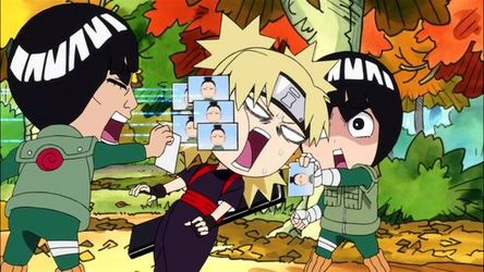 ninja lee pals his Naruto rock and