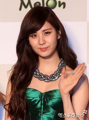 Girls Generation/SNSD wallpaper possibly containing a cocktail dress, a bustier, and a dinner dress entitled seohyun