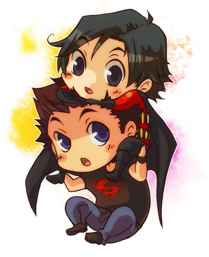 Justiça Jovem wallpaper called superboy and robin